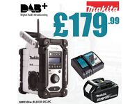 Makita DMR104w White Job Site DAB radio + BL1830 3.0ah battery & Charger