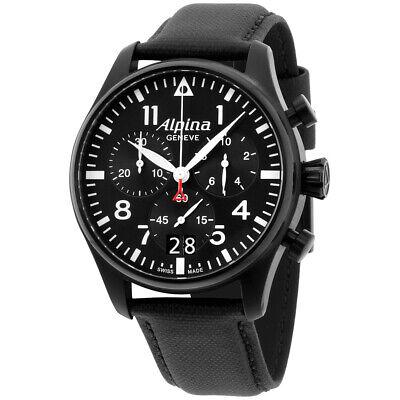 Alpina Startimer Quartz Movement Black Dial Men's Watch AL-372B4FBS6