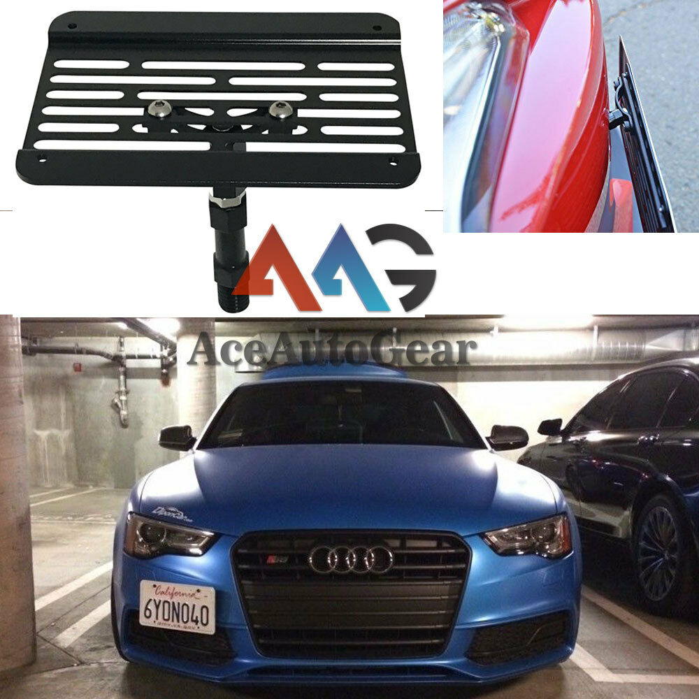 For Audi S7 RS5 RS7 A4 S4 Front Bumper Tow Hook License Plate Relocato