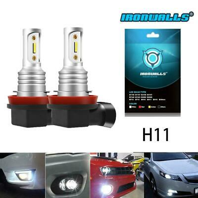 Pair H11 LED Fog Lights Bulbs Car Lamp 8000LM 6500K Xenon White 55W High Power