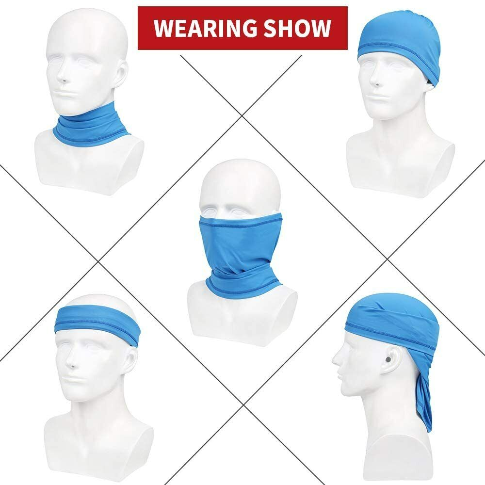 Neck Gaiter Sun Protection Breathable Face Cover for Fishing Running Cycling US Clothing, Shoes & Accessories