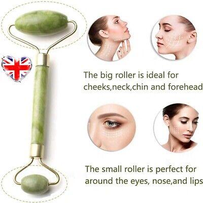 Natural Quartz Facial Jade Stone Roller Face Skin Massager Beauty Massage Tool