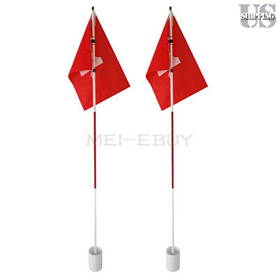 - 2 Sets Flag Stick Golf Hole Pole Cup Putting Green Flagstick Backyard Practice