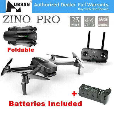 Hubsan Zino PRO 4KM Drone 5G Wifi APP 4K Camera Quadcopter 3Gimbal+2Battery RTF