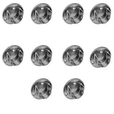 10pc Chrome Finish 1-14 Tubing U Flange Half Round Wall Flanges Retail Fixture