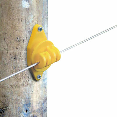 Patriot - Wood Post Claw Insulator - Yellow