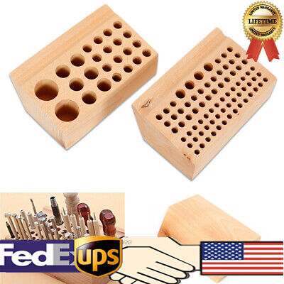 Crafting Store (Wooden Stamps Stand Holder Storing Wood Tool Rack 76/24 Holes Leather DIY)