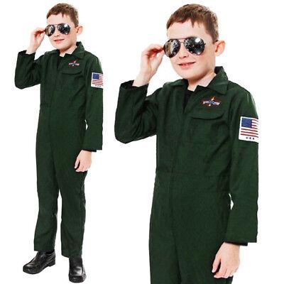 BOYS PILOT COSTUME AVIATOR AIR CADET CHILDS FANCY DRESS OUTFIT WORLD BOOK DAY