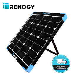 Renogy Eclipse 50W 12V Monocrystalline Solar Panel Portable High-Efficiency Mono