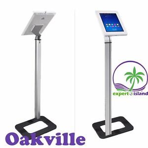 PYLE PSPADLK38 Tamper-Proof Anti-Theft iPad Tablet Kiosk Floor Stand Holder for Public Display