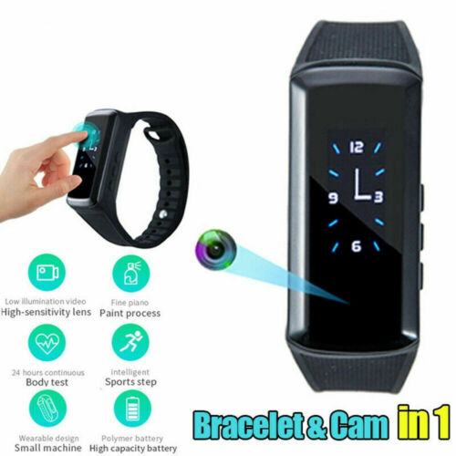 1080P Spy Mini Camera Wristband Hidden Video Camera Band Sport Bracelet Watch US