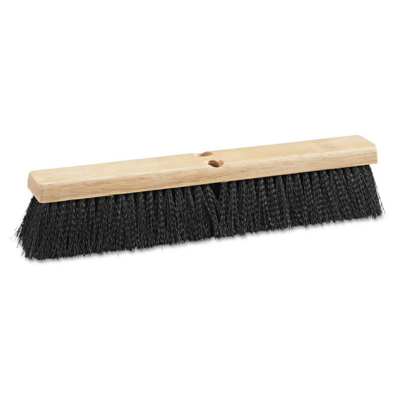 Boardwalk 20618 Med Polypropylene Bristle 18 in. Floor Brush Head - Black New