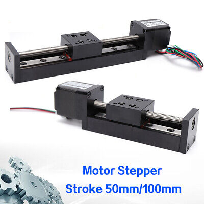 Cnc Slide Stage Actuator Stepper Stroke 50100mm Mini T6 Leadscrew Linear 0.6a