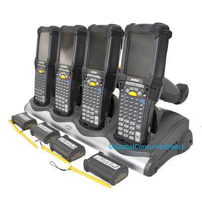 Lot Of 4x Motorola Mc9090g Mc9090 Wm 5.0 Laser Barcode Scanner Cradle
