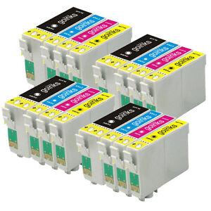 16 ink cartridges xl set for epson workforce wf 3620dwf wf 7610dwf ebay. Black Bedroom Furniture Sets. Home Design Ideas