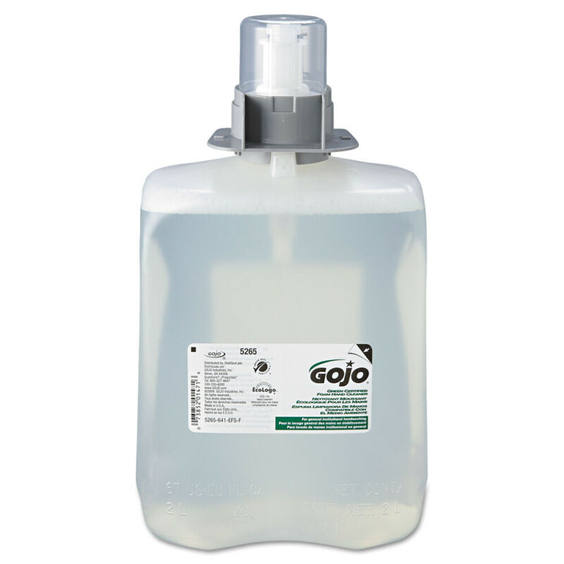 GOJO Green Certified Foam Hand Cleaner, 2000ml Refill, 2/carton  526502 New