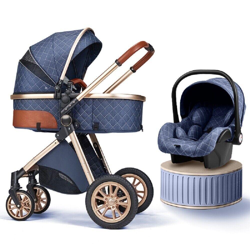 Baby Stroller 3 in 1 Foldable Luxury Newborn Infant Travel S