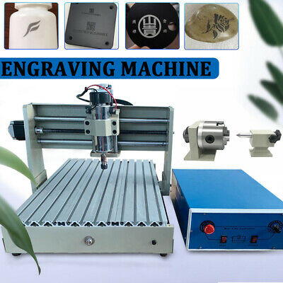 Usb 4 Axis 3040 Cnc Router Engraver Pcb Wood Engraving Milling Cutting Machine