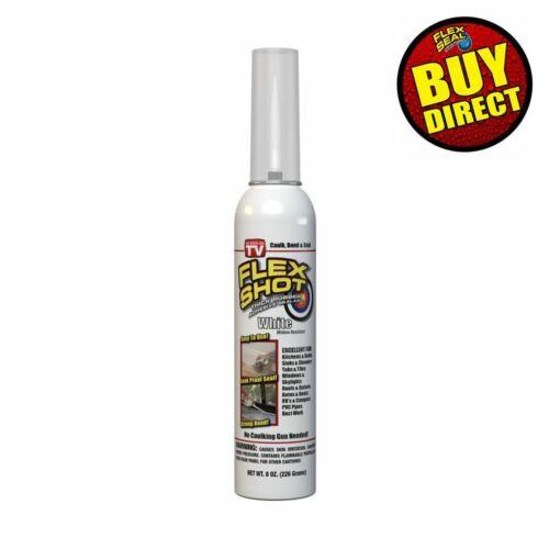 Flex Shot White 8-oz. Thick Rubber Adhesive Sealant Caulk Bond Seal BUY DIRECT!