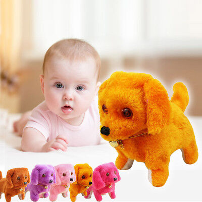 Robotic Electronic Walking Pet Dog Toys Music Light Cute Puppy Baby Kid Toy Gif