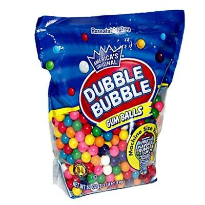 Dubble Bubble Gumballs Machine Size Refills - 3.3 Lb Aprx. 680 Pieces