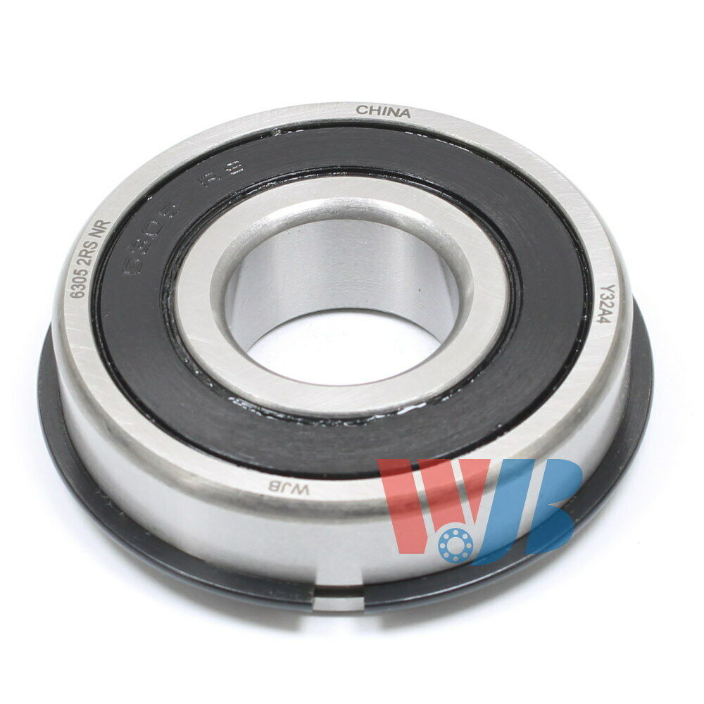 Ball Bearing WJB 6305-2RSNR With 2 Rubber Seals /& Snap Ring 25x62x17mm