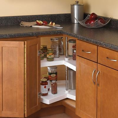 Used, Kitchen Storage Lazy Susan Corner Cabinet Organizer 2 Shelf Shelves Hardware Kit for sale  San Gabriel