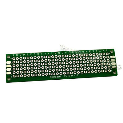 5 X Double Side 2x8 Cm 20x80 Mm Prototype Blank Plated Universal Pcb Board Fr4