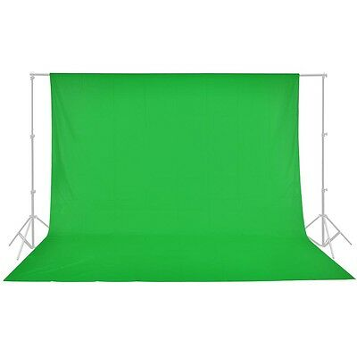10ft Cotton Chromakey Green Screen Muslin Backdrop Photo Photography Background