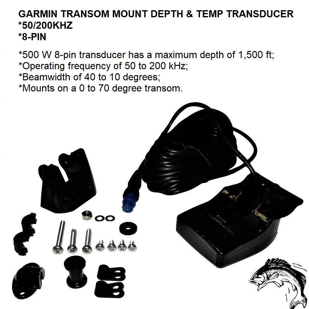 Garmin Transom Mount Depth/Temp 50/200kHz f/GSD-24