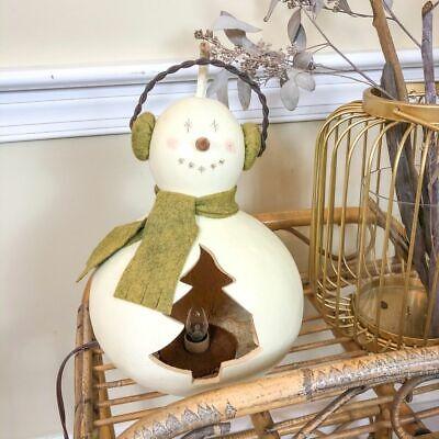 Winter Holiday Gourd Handmade Snowman Lantern Lamp