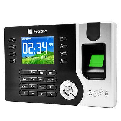 New Biometric Fingerprint Attendance Time Clock+ID Card Reader+TCP/IP+USB