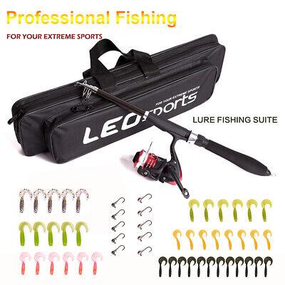 Telescopic Fishing Rod Reel Full Kits Set With Hook Lure Fishing Bag -