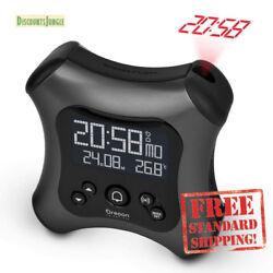 OREGON SCIENTIFIC Alarm Clock w/ Projection & Temprature dell'Hour RM330P Black