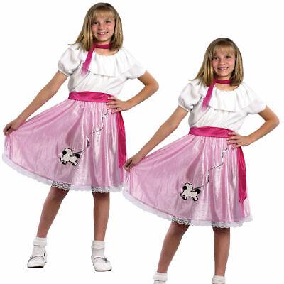 Mädchen Sehr Klein Bopper Rock n Roll Kostüm Kinder 50s 60s Pudel Kostüm Neu