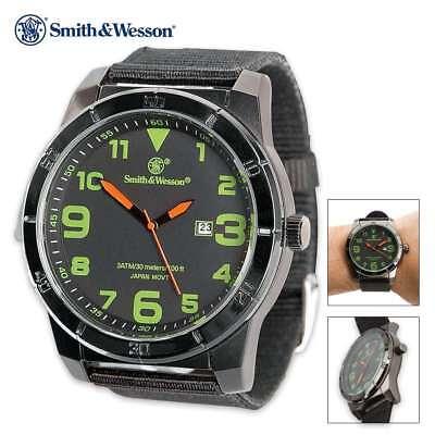 Smith & Wesson Commando Mens Wrist Watch Water Resistant 30M SWW-W-MX27 w Date
