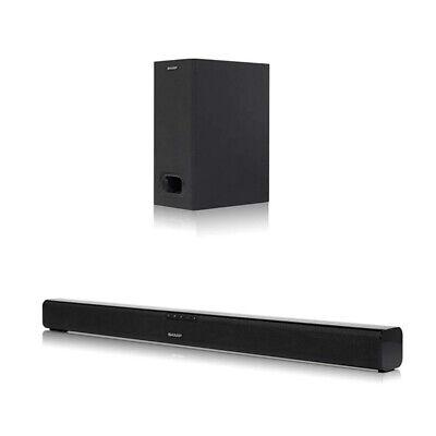Sharp HT-SBW110 180W 2.1 Home Cinema Soundbar with Subwoofer, Bluetooth & HDMI