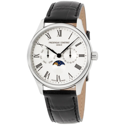 Frederique Constant Men's Classic Silver Dial Leather Band Watch FC260WR5B6 - watch picture 1