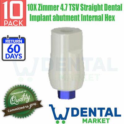 10x Zimmer 4.7 Tsv Straight Dental Implant Abutment Internal Hex