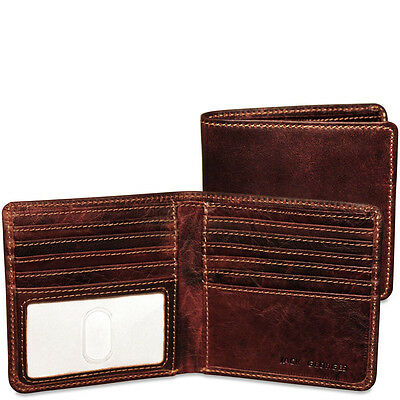 Jack georges Voyager Collection Leather Hipster Wallet Black 7303 (Jack Georges Hipster Wallet)