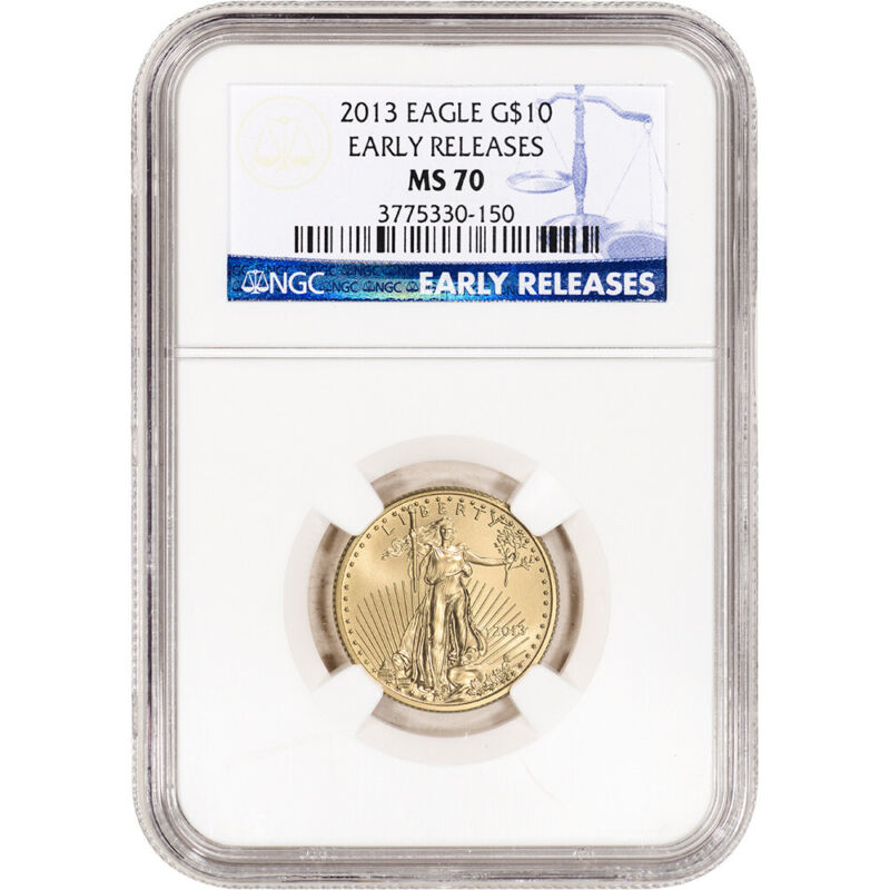 2013 American Gold Eagle 1/4 oz $10 - NGC MS70 Early Releases