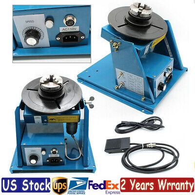 110v 2.5 Rotary Welding Positioner Turntable Table 10kg 2-10 Rmin 0-90 Usa