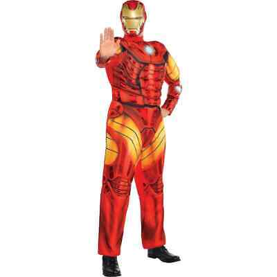 Avengers End Game Iron Man Muscle Costume Adulto Marvel Comic Plus Misura Nuovo
