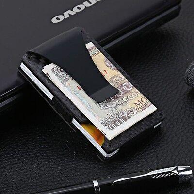 Metal Slim Wallet Front Pocket Minimalist Card Holder Money Clip RFID Blocking   - Personalized Money Clip Wallet