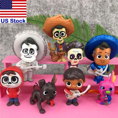 8Pcs Set Coco Movie Miguel Hector Dante Imelda Pepita Action Figure Toys