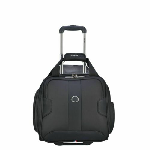 NEW!!! DELSEY Sky Max 2.0 Softside Luggage Carry-on UnderSeater, 2 Wheels, Bl...