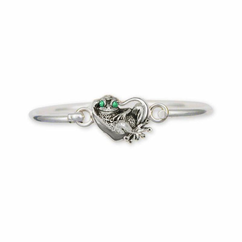 Frog Bracelet Jewelry Sterling Silver Handmade Frog Bracelet FG12-XHB