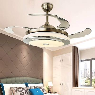 Invisible Ceiling Fan Light Chandelier LED Lamp Dining Room Home Decor 36