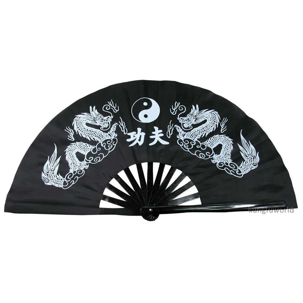 как выглядит Durable Bamboo Tai chi Fans Chinese Kung fu Martial arts Training Equipment фото