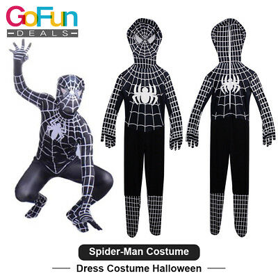 Spiderman Kostüm Cosplay Jungen Kinder Marvel Venom Party Halloween Karneval (Venom Kind Kostüme)